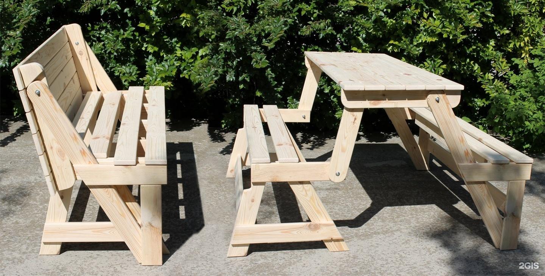 Складной стол скамейка своими руками