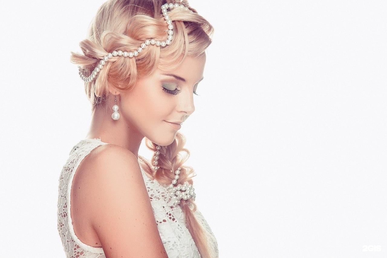 Свадебные прически с жемчужной нитью фото
