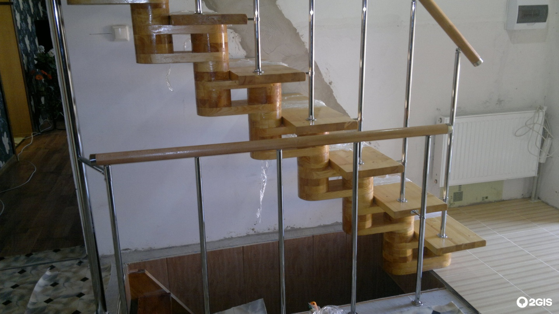 Лестница из профильной трубы своими руками 47