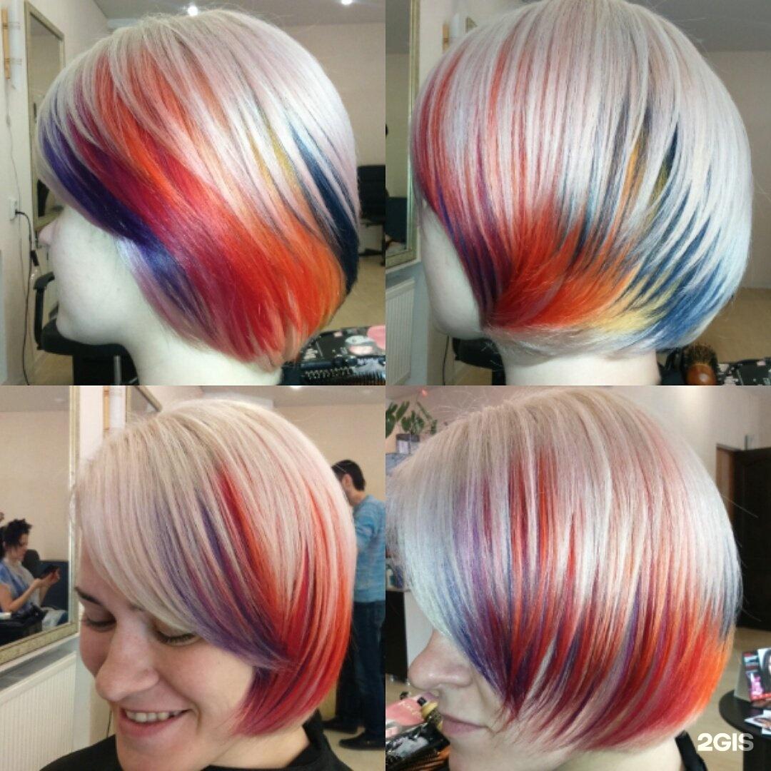 Фото покраска каре в двух цветах