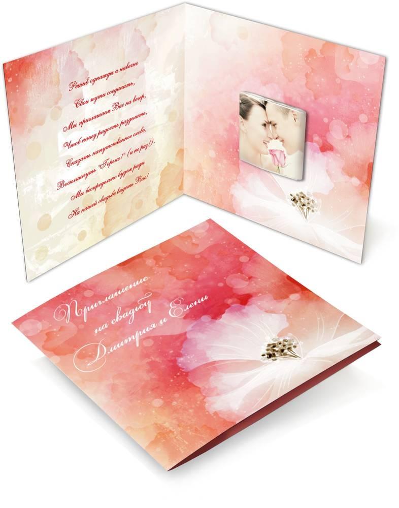 Шоколадные открытки на свадьбу