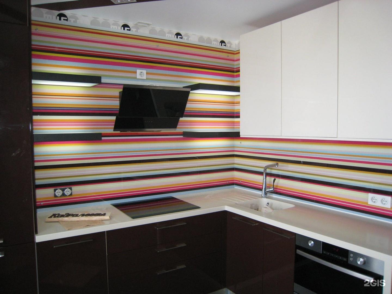 фото кухни с полосатым рисунком первую очередь