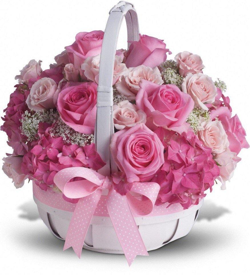 Картинка с днем рождения букет цветов