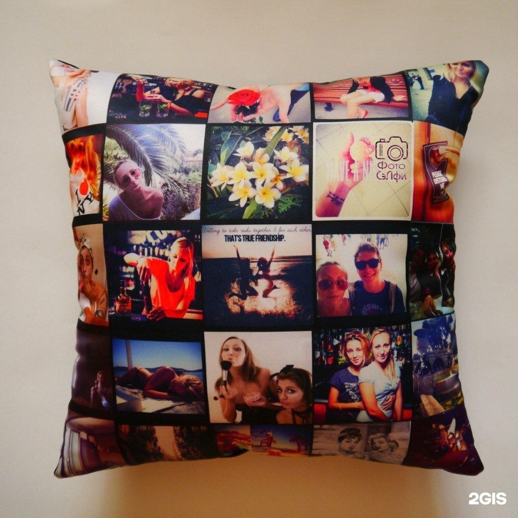 подушка в подарок с фотографиями начала