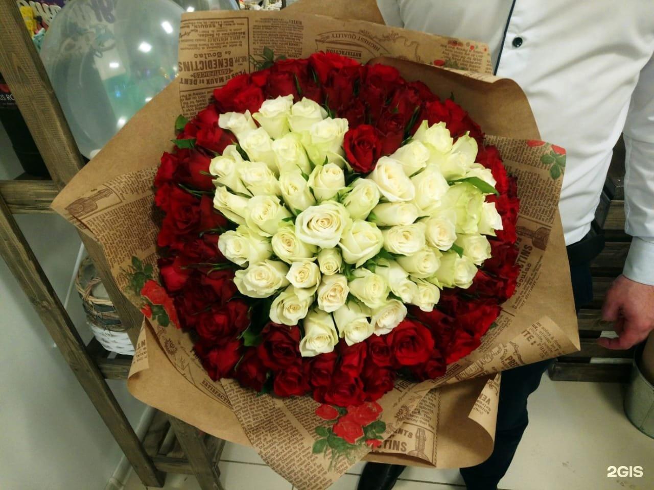 Цветов, заказ 55 роз набережные челны