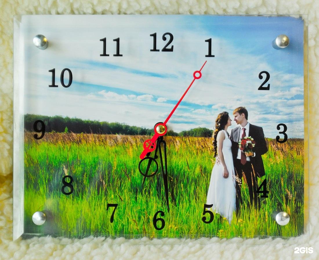 просторах настенные часы с фотографией на заказ блинам