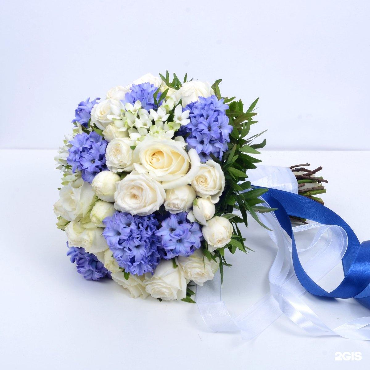 Букет невесты из гиацинта белого, магазин цветов купить