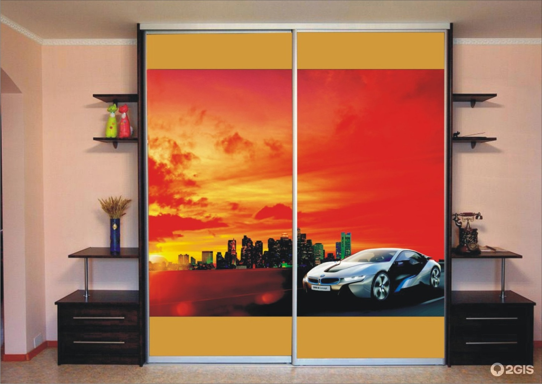 Фотопечать на мебель с изображением автомобилей