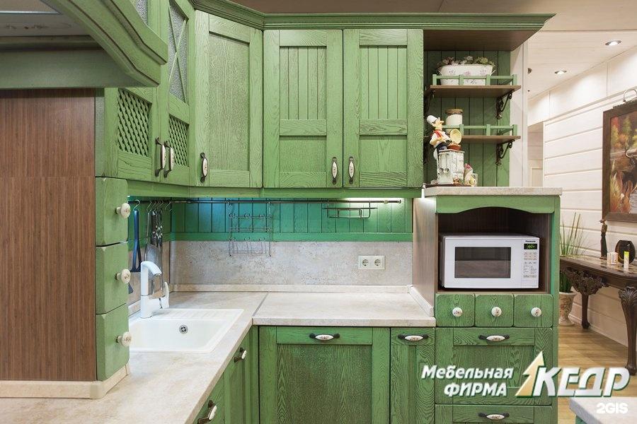 Мебель кухни цвета кедр фото