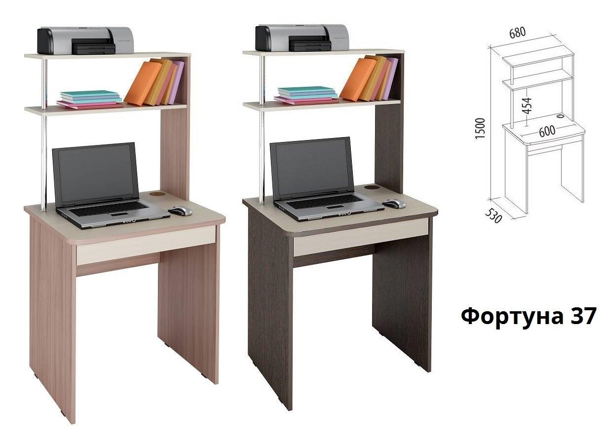 Компьютерный стол с полками фортуна-37 витра купить в москве.