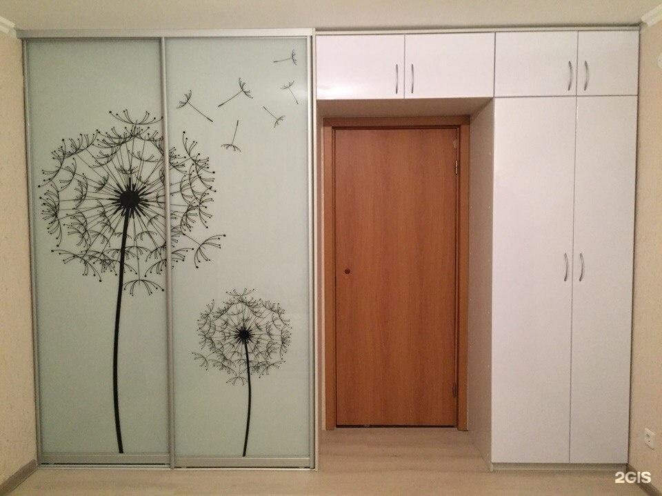 рисунок дверей встроенного шкафа учитывать пропорции картинки