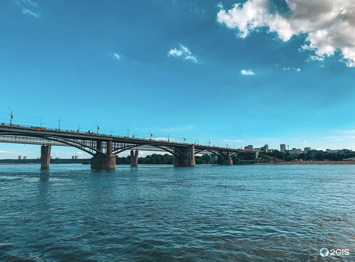 Коммунальный мост новосибирск фото
