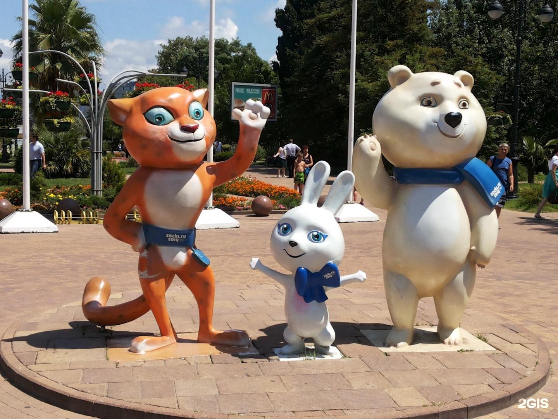 сочи олимпийские фигуры фото видны были
